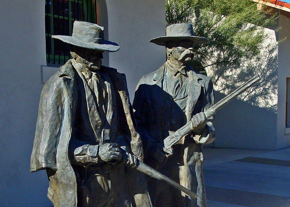 Doc and Wyatt Statues