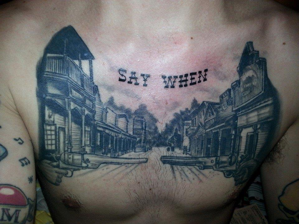 Say When Chest Piece