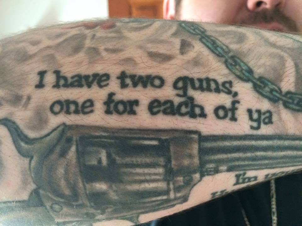 I have two guns, one for each of ya.